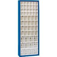 MultiStore Magazinschrank, 56 Behälter, enzianblau