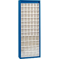 MultiStore Magazinschrank, 74 Behälter, enzianblau