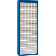 MultiStore Magazinschrank, 90 Behälter, enzianblau