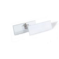 Naambadge set met combinatieclip, 40 x 105 mm, 14 stuks, incl. 42 BADGEMAKER® inbrengbadges