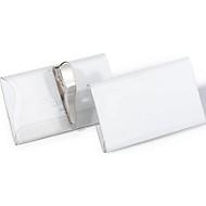 Naambadges, met croco-klem, 40 x 75 mm