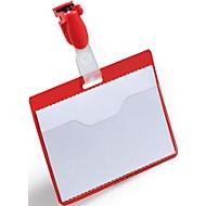Naambadges, voor bedrijfspas, rood, 25 stuks