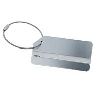 Namensschild für Office Rucksack/Schultergurt/Office Box S Serie Sigel Move It, beschreibbar, L 80 x B 40 mm, Aluminium & Metall, silber