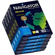 Navigator Office Card, A4, 160 g/m², helderwit, 1 doos = 5 x 250 vellen