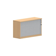 NEVADA bijzet-roldeurkast, 1,5 OH, b 1200 x d 445 x h 720 mm, beukendecor