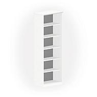 NEVADA boekenkast, 6 OH, B 800 x D 445 x H 2220 mm, wit