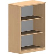 NEVADA boekenkast, spaanplaat, 3 OH, B 800 x D 445 x H 1160 mm, beukendecor