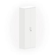 NEVADA kast, 6 OH, houten deuren, b 800 x d 445 x h 2220 mm, wit