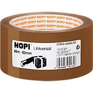 NOPI verpakkingstape universeel, 66 m x 50 mm, bruin