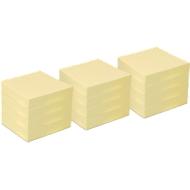 Notes adhésives INFO, papier recyclé, 50 x 40 mm, jaune, 1 paquet de 12 blocs