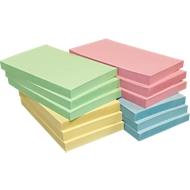 Notes adhésives INFO, papier recyclé, coloris assortis, 125 mm x 75 mm, 1 paquet de 12 pièces