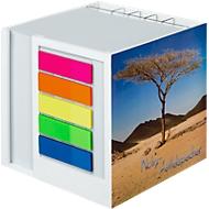 Notiz-Zettelbox, mit Stifteköcher, mit Haftnotiz-Set, bedruckbar