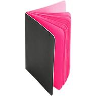 Notizblock, 30 farbige Seiten, schwarzer Pappeinband, pink