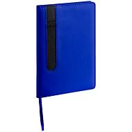 Notizbuch, 80 blanko Blätter, Stiftschlaufe, blau