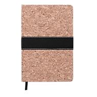 Notizbuch, DIN A5, 96 linierte Seiten, mit Lesezeichen, Korkeinband, Querband