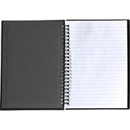 Notizbuch Gulliver, 80 Seiten liniert & perforiert, Spiralbindung, schwarz