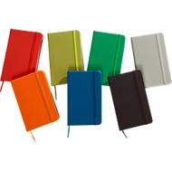 """Notizbuch """"Kine"""", ca. A6, 100 Blanko-Seiten, PU-Einband, Werbedruck, silber"""