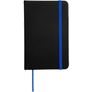 Notizbuch Lector, DIN A6, blanko, 70g/m², 80 S., schwarz/blau