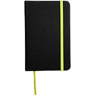 Notizbuch Lector, DIN A6, blanko, 70g/m², 80 S., schwarz/grün