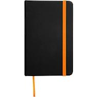 Notizbuch Lector, DIN A6, blanko, 70g/m², 80 Seiten, Tampondruck 50 x 20 mm, schwarz/orange