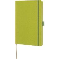 Notizbuch Lediberg Appeel A5, 192 Blatt kariert, aus Apfelleder, grün