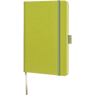 Notizbuch Lediberg Appeel A6, 160 Blatt kariert, aus Apfelpapier, grün