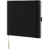 Notizbuch Lediberg, ideal für die Werbeanbringung, schwarz
