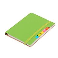 Notizbuch Penz, inkl. Schreibblock 70 Blatt liniert, Haftnotizen & Kugelschreiber, grün