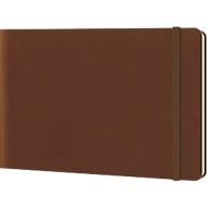Notizbuch Reporterblock Lediberg, 192 Blatt kariert, chocolate