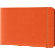 Notizbuch Reporterblock Lediberg, 192 Blatt kariert, orange