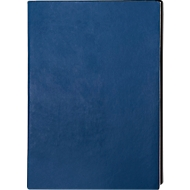 Notizbuch Trend, DIN A5, 160 karierte Blätter, Kunstleder, blau