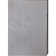 Notizbuch Trend, DIN A5, 160 karierte Blätter, Kunstleder, grau