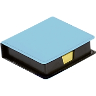 Notizzettelboxspender, mit 100 Haftnotizen in 75 x 75 mm, blau
