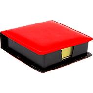 Notizzettelboxspender, mit 100 Haftnotizen in 75 x 75 mm, rot