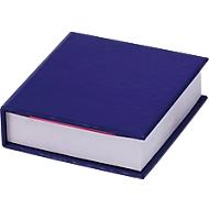 Notizzettelbuch, 200 Notizzettel, 125 Haftnotizen, blau