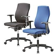 Bürostuhl NOW 1, ohne Armlehnen, Synchronmechanik, belastbar bis 120 kg, schwarz
