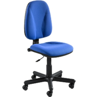 NowyStyl Bürostuhl Jupiter, Permanentkontakt, ohne Armlehnen, Muldensitz, blau
