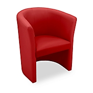 NowyStyl Cocktailsessel CLUB, Kunstleder (100% Polyester), voll gepolstert,  Sitzhöhe 455 mm, rot