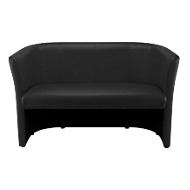 NowyStyl Zweisitzer-Sofa CLUB DUO, Echtleder, voll gepolstert, Sitzhöhe 455 mm, schwarz