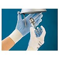 Nylon gebreide handschoen Cappella 13, fijn, met vinyl noppen, 12 paar, m. M
