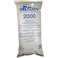 Ölbindemittel Oel-Kleen 2000, Typ III R/SF, auch für Säuren & Laugen, Volumen 50 l, Pelletgröße 0,125-4 mm, Sack mit 50 kg, weiß