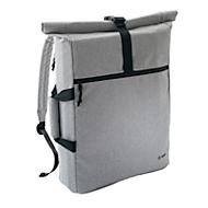 Office Rucksack Serie Sigel Move It, Öffnung falt- & einrollbar, Front-/Seitentasche/Innenfach, gepolstert, B 500 x T 40 x H 400 mm, Polyester, grau