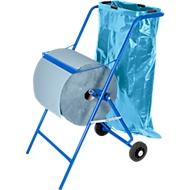 Offre complète :  chariot dévidoir + rouleau de papier ménage industriel + 50 sacs poubelle 120 l