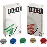 Omega, coins-lettre assortis, 100 pièces