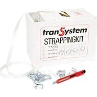 Omsnoeringssysteem tranSystem STRAPPINGKIT, polyesterband, en 100 klemmen