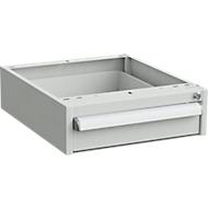 Onderbouw-container voor werkbanken, centrale vergrendeling, met ESD-bescherming, B 450 x D 520 mm, 1 schuiflade