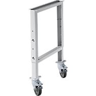 Onderstel voor multiplex-werkbladen WFH707-B1,  in hoogte verstelbaar, 665 x 641 - 853 mm, met wielen, lichtgrijs RAL 7035