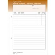 Oneco Tagesrapporte, A6, braun/weiß, 5 Blocks