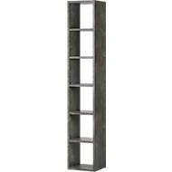 Open kast Pombal, 6 ordnerhoogten, uitbreidbaar, breedte 400 mm, betonkleuren