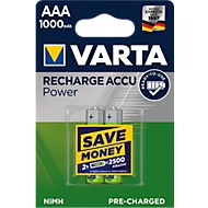 Oplaadbare batterijen van VARTA, micro AAA, 2 stuks